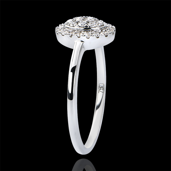 Verlovingsring Overvloed - Cluster - 9 karaat witgoud met diamanten