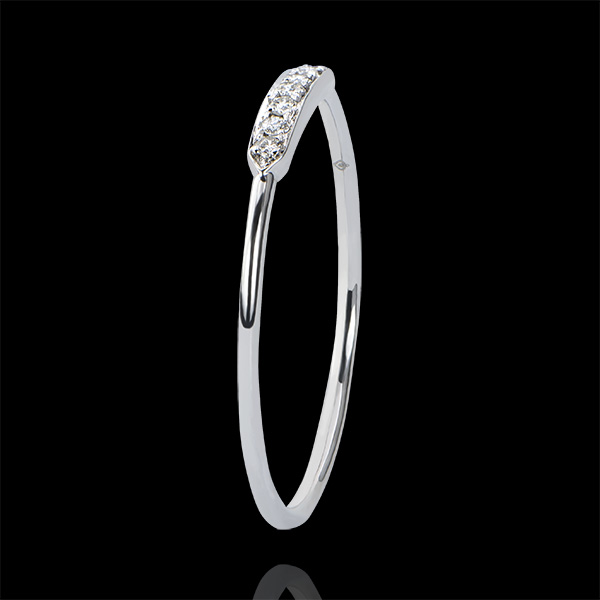 Verlovingsring Overvloed - Equillibrio - 9 karaat witgoud met diamanten