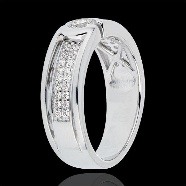 Verlovingsring Sterrenbeeld - Diamanten Solitaire - 0.27 karaat Diamant - 18 karaat witgoud