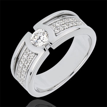 Verlovingsring Sterrenbeeld - Diamanten Solitaire - 0.35 karaat Diamant- 18 karaat witgoud