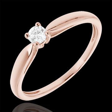 Verlovingsring Roze Goud - 0.1 karaat