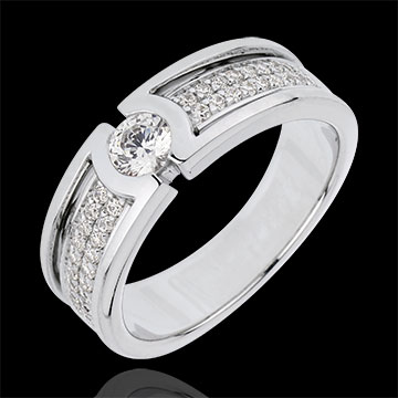Verlovingsring Sterrenbeeld - Diamanten Solitair - 0.27 karaat diamant