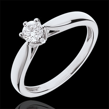 Ring Riet Wit Goud 6 Diamanten klauwen - 0.305 karaat