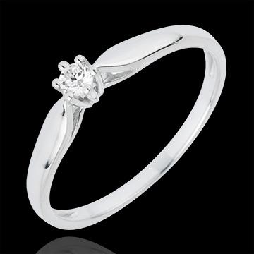 Ring Riet 6 Diamanten klauwen - 0.07 karaat