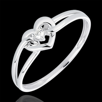 Ring My Love - Wit goud. diamanten