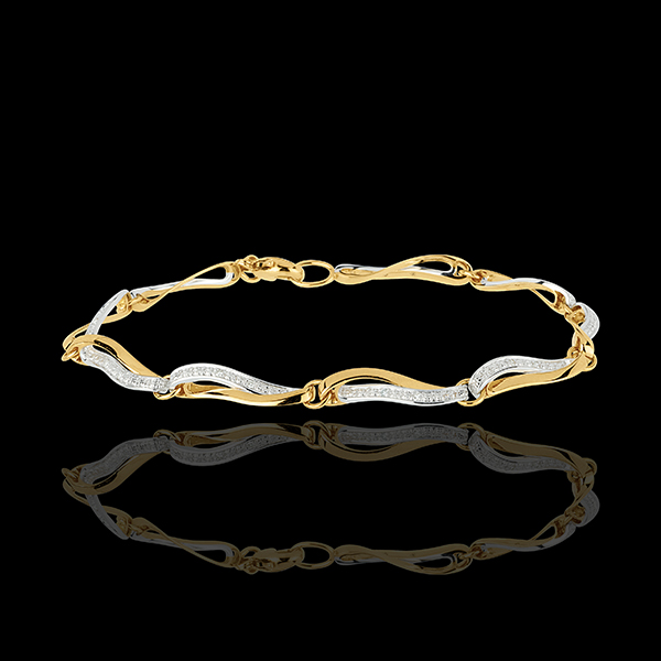Waters of the Nile Two Gold and Diamond Bracelet