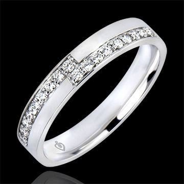 Wedding Ring Abundance - Passion - white gold 18 carats and diamonds