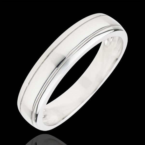 Wedding Ring Horizon - White gold
