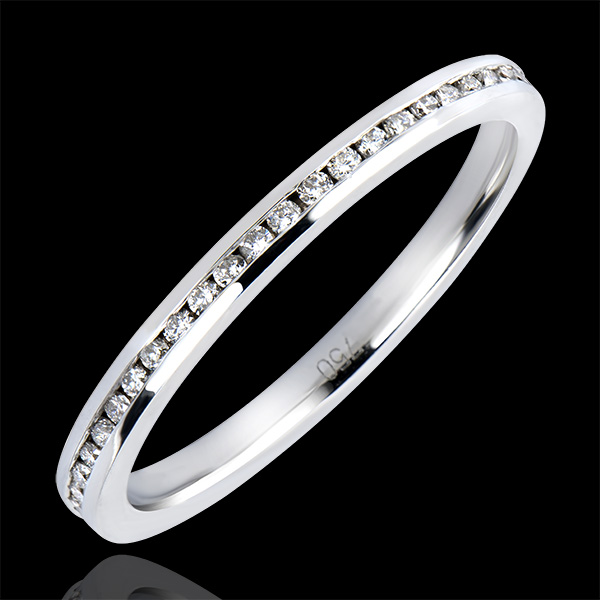 Wedding Ring Origin - Dew Pearls - white gold 9 carats and diamonds