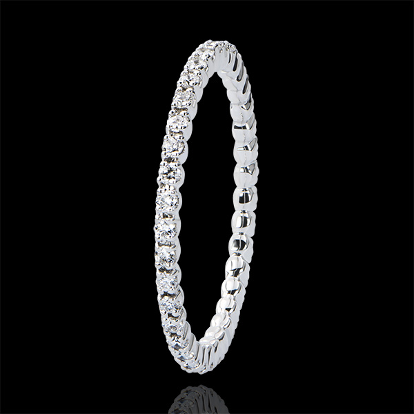 Wedding Ring Origin - Incastonatura a Griffe - Giro completo - white gold 9 carats and diamonds