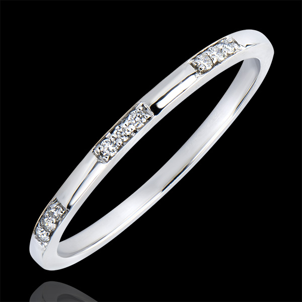Wedding Ring Origin - Miss - white gold 9 carats and diamonds