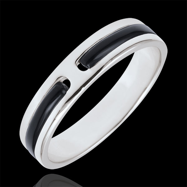 Wedding Ring Promise - all gold - black lacquer - 5mm