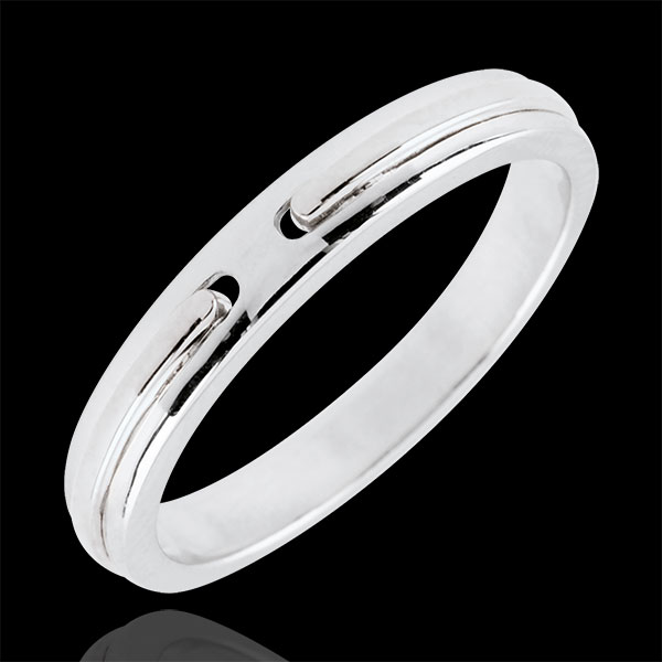 Wedding Ring Promise - white gold - small model - 18 carat