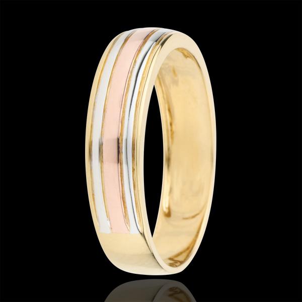 Wedding Ring Tricoloured Odysseus