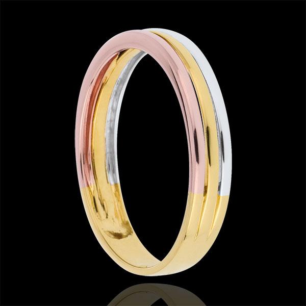Wedding Ring Triya - Three golds