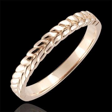 Ring Enchanted Garden - Braid - rose gold - 9 carat