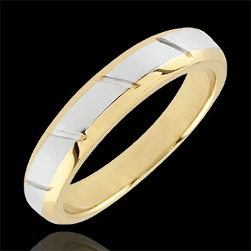 Yellow Gold and White Gold Magnus Wedding Band