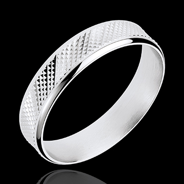 White Gold Loft Ring