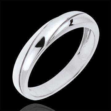 Saturn Trilogy Wedding Ring - White gold - 18 carat