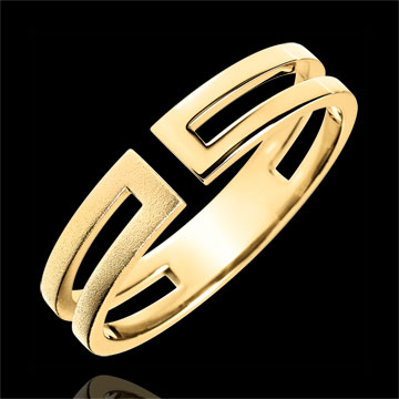 Gloria Ring - 9 carat brushed yellow gold