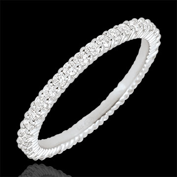 White Gold Radiant Wedding Band - 38 diamonds