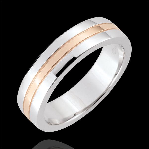 Weddingring Star - Small model - white gold, rose gold - 18 carat