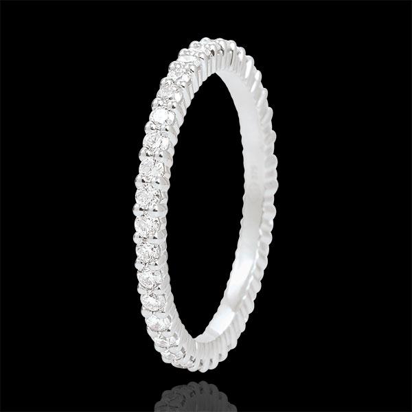 Weissgold Strahlender Trauring- 37 Diamanten