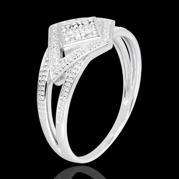 White Gold and Diamond Andromache Ring