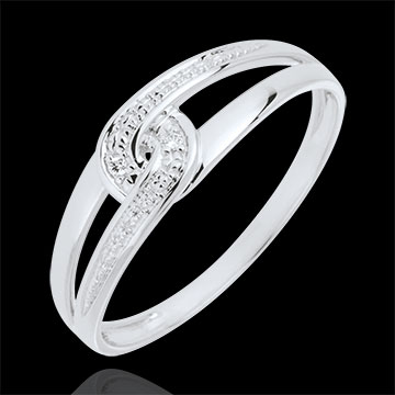 White gold and diamond Evita Ring