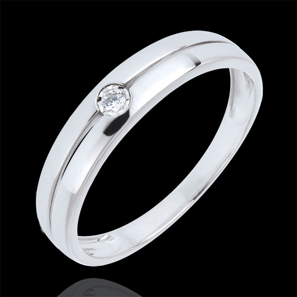 White gold and diamond Real Eden Ring