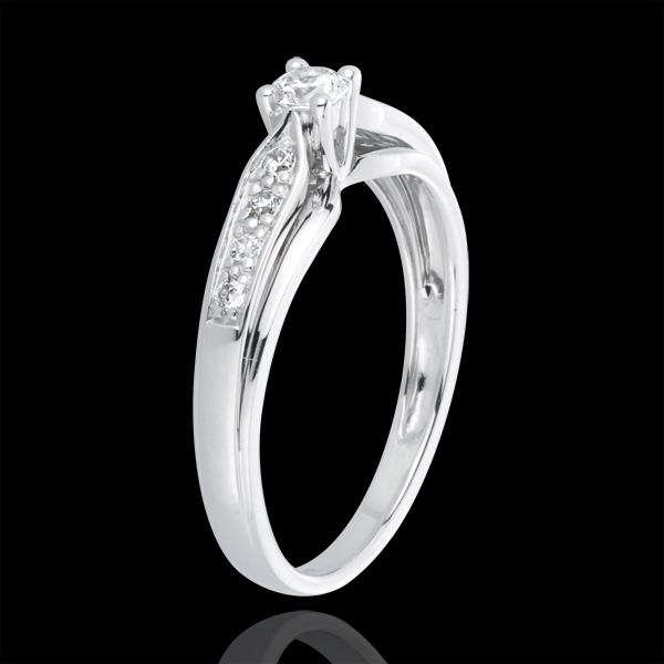 White Gold and Diamond Salma Ring
