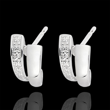 White Gold and Diamond Sapience Earrings