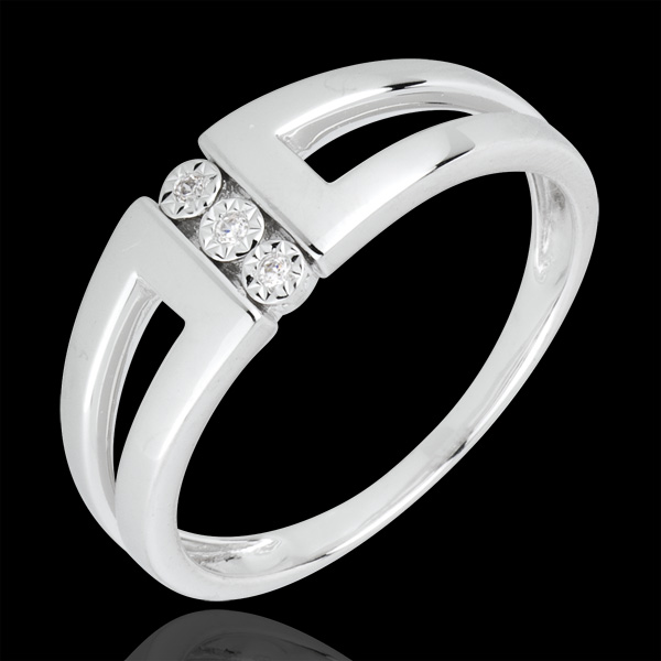 White Gold and Diamond Trilogy Infinity - Selma Ring