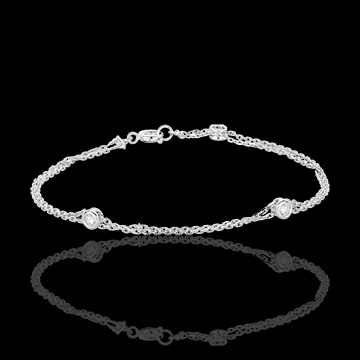 White Gold and Diamond Zodiac Bracelet