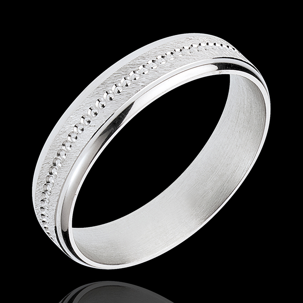White Gold Archi Wedding Ring