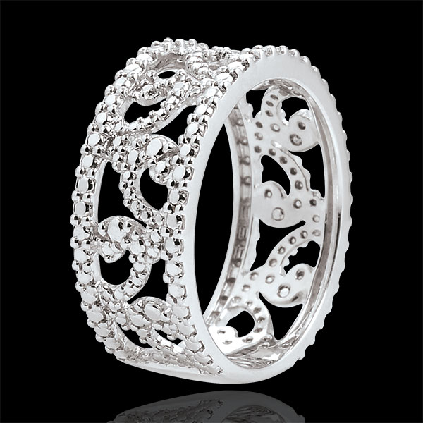 White Gold Diamond Destiny Ring - Varda