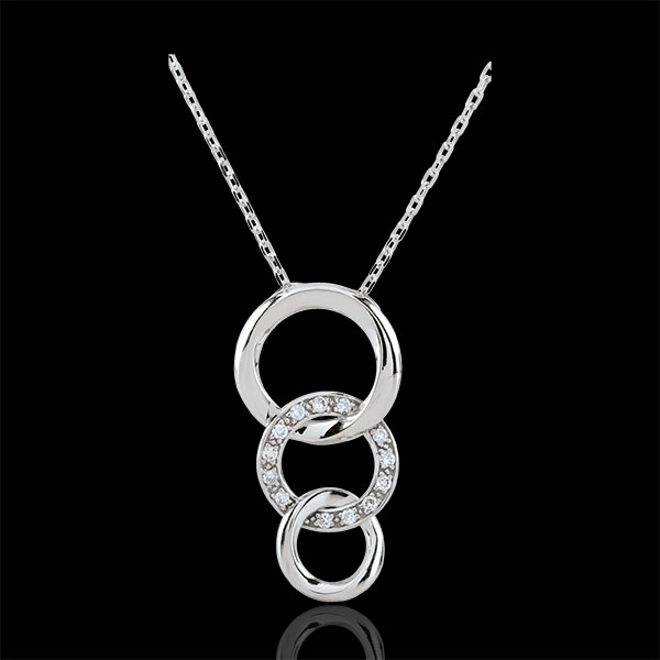 White Gold Gala Necklace - 18 carats