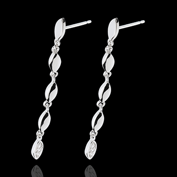 White Gold Gentle Flora Earrings