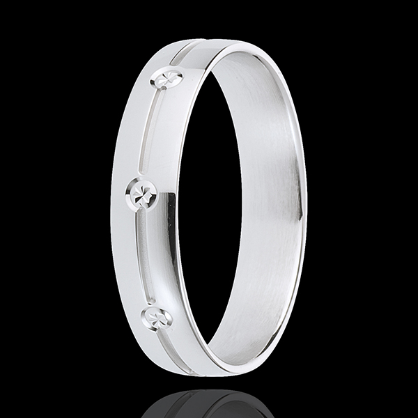 White Gold Giza Wedding Ring