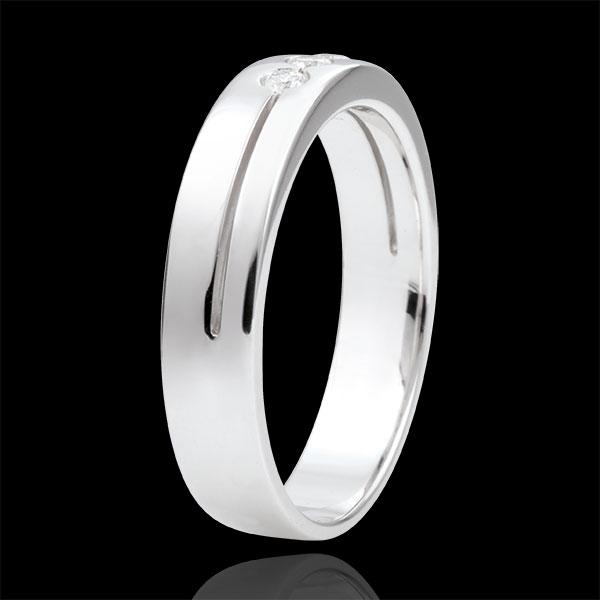 White Gold Olympia Trilogy Wedding Band - Average Model - 18 carats