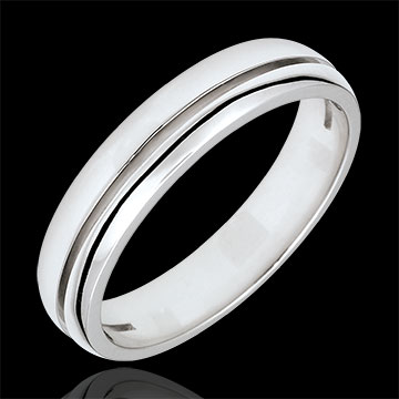 White Gold Olympia Wedding Band - Small Model