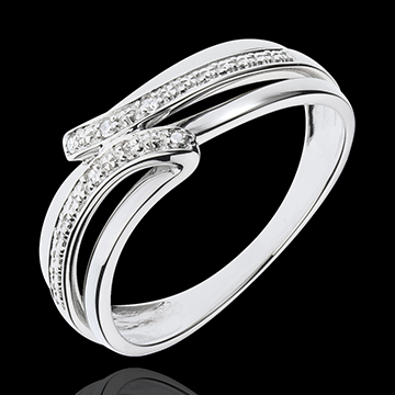 White Gold Serenity Ring - 6 Diamonds