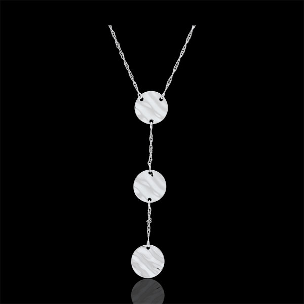 White Gold Three Suns Necklace