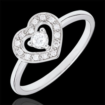 White Gold Tiphanie Heart Ring
