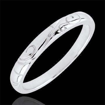 White Gold Triba Wedding Band - 18 carats
