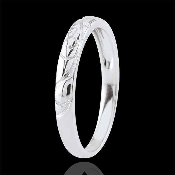 White Gold Triba Wedding Band