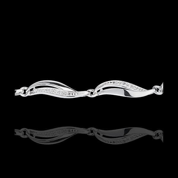 White Gold Twist Bracelet - 22 Diamonds