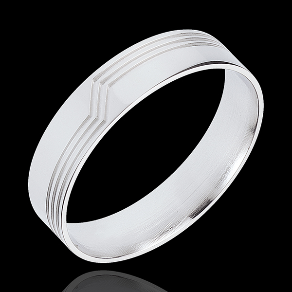 White Gold Volte-Face Ring