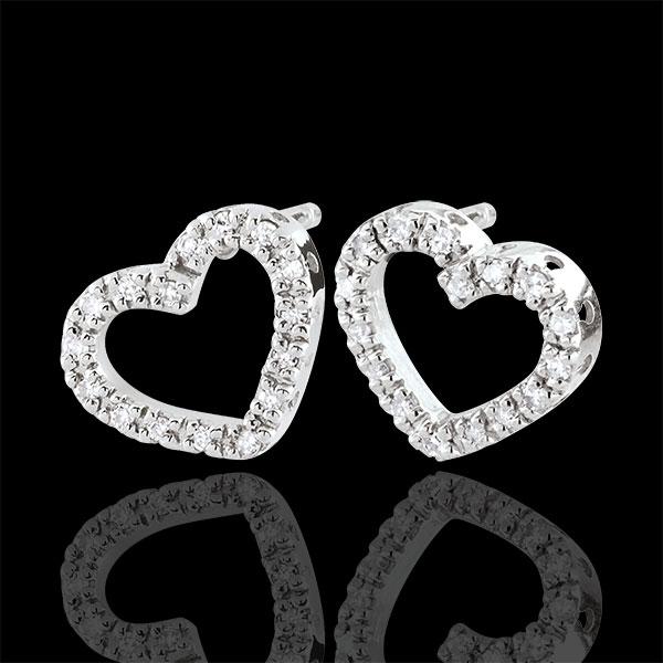White Gold Zadig Heart Earrings