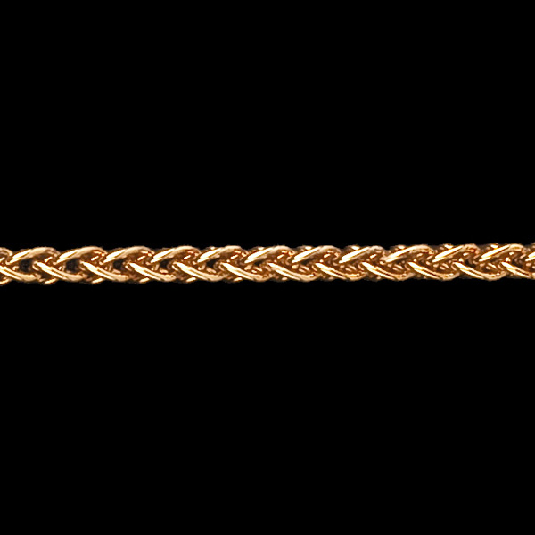 Yellow Gold 42cm Wheat Chain